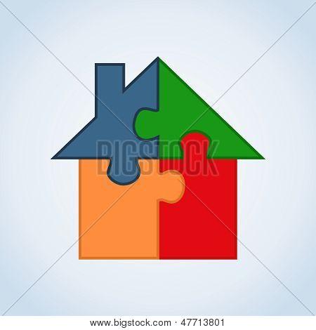 Inmobiliaria Icon Set House