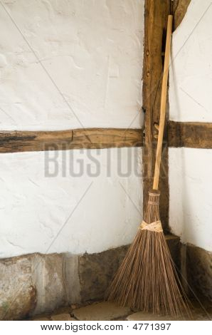 Old Wooden Broom