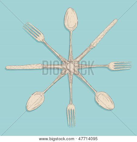 Retro Cutlery Design Set