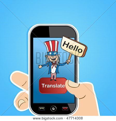 Engelse vertaling App Concept