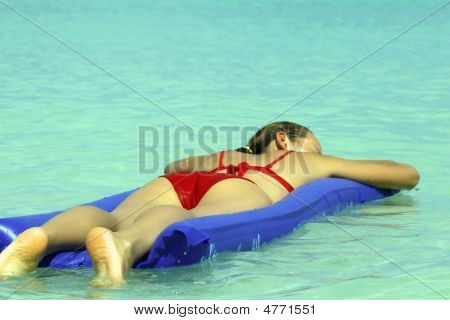 Woman Sleeping On An Air Mattress