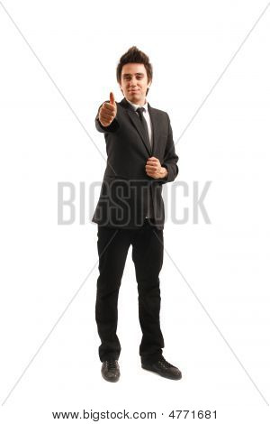 Confident Businessman Showing Okay Sign