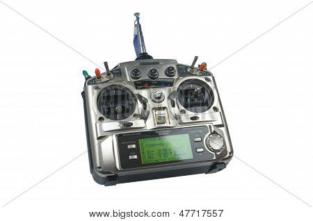 Remote Control For Helicopers And Airplanes Isolated