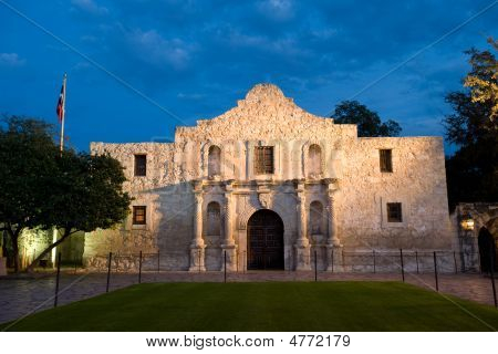 Alamo At Twilight