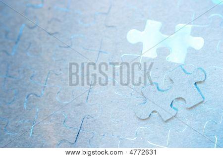 Puzzle azul