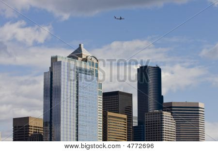 Plane Over Seattle