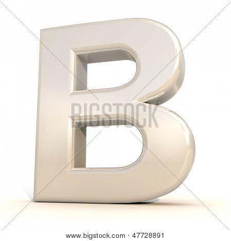 3D alfabeto, letra B, isolado no fundo branco