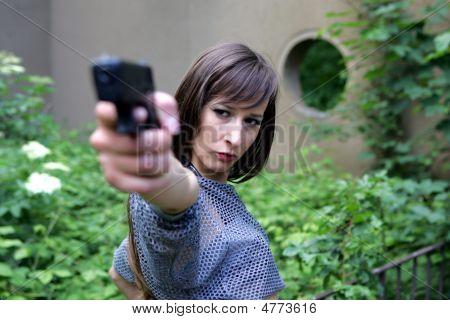 Mädchen mit gun