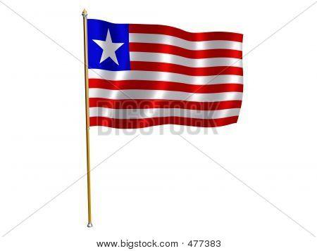 Liberian Silk Flag