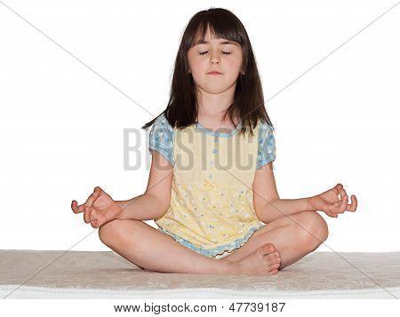 Meditieren Mädchen