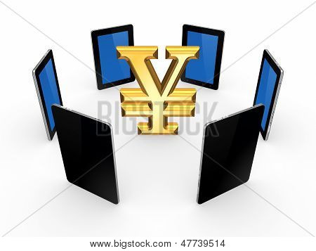 Tablet PCs around sign of yen.