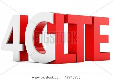 3D Sign Of 4G Lte Broadband