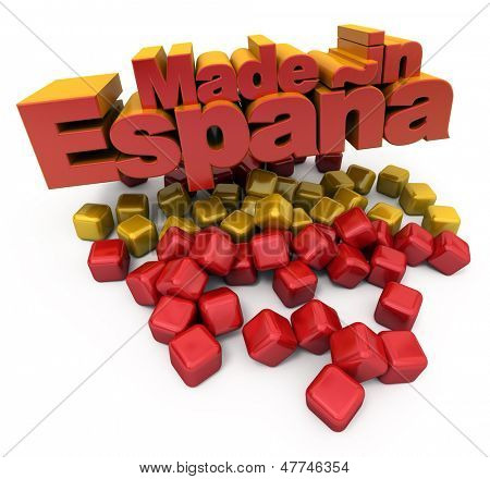 3D Made in Espa���±a with Spanish colors