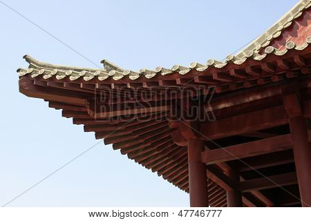 Ancient Architecture Eaves In A Park