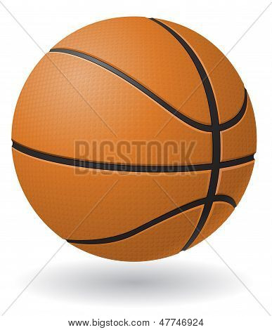 Basketball-Ball-Vektor-Illustration