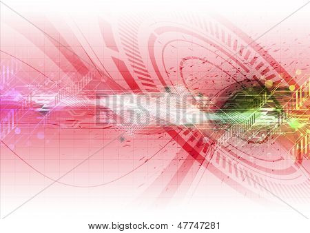 Illustration Technology Background