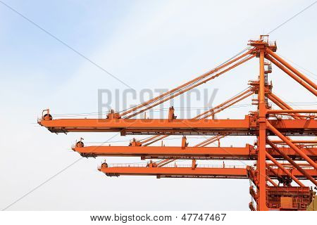 Lifting Machinery And Equipment In Iron Ore Wharf