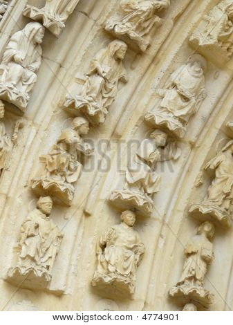 Carved Stone Church Door Lintel