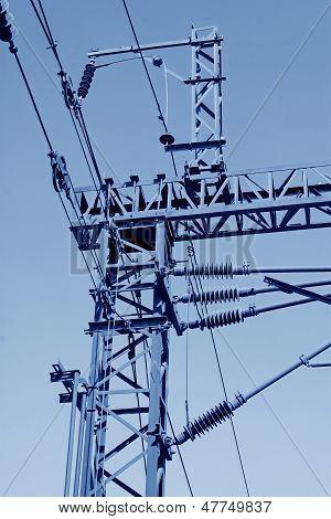Electrification Railway Contact Net Steel Column