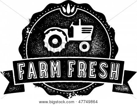 Farm Fresh Product Label or Stamp