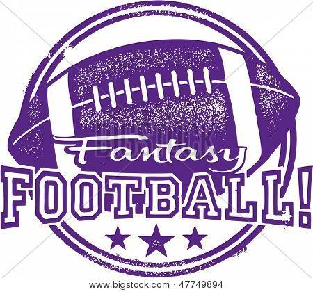 Fantasy Football Design Stamp