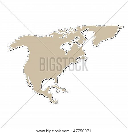 outline map of North America