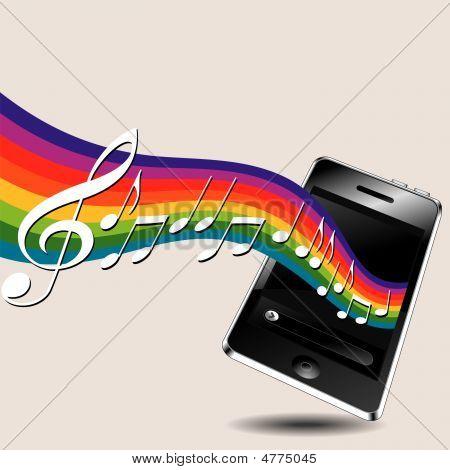 Teléfono de la música.