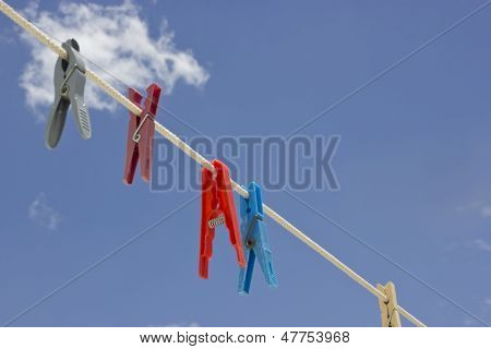 View of clothespin with sky
