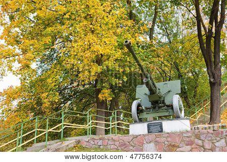 Big Old Cannon In Park, Korosten, Ukraine