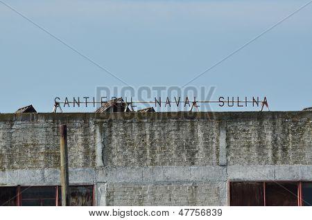 Damaged shipyard