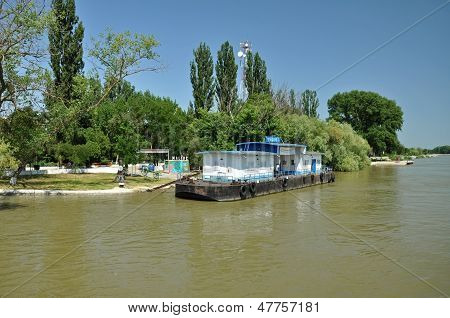 Boat station in Danube delta