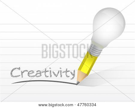 Creativity Light Bulb Pencil Concept
