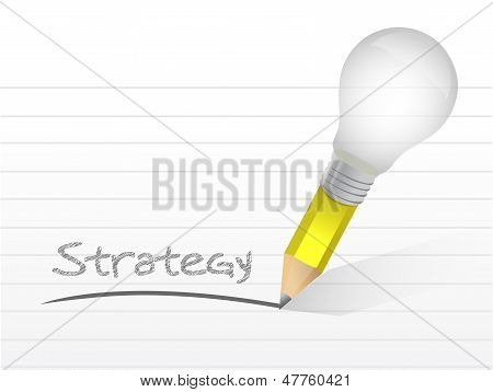 Strategy Light Bulb Pencil Concept