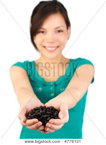 Coffee Beans Woman