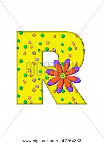 Alphabet Zany Dots R