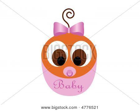 Little African American Baby Girl Vector