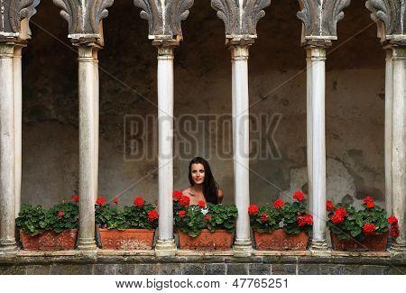 Architectural detail in Ravello, Amalfi Coast, Italy, Europe