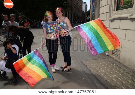 The Annual Pride March In London That Celebrates Gay, Lesbian And Bi Sexual People In London 29Th Ju