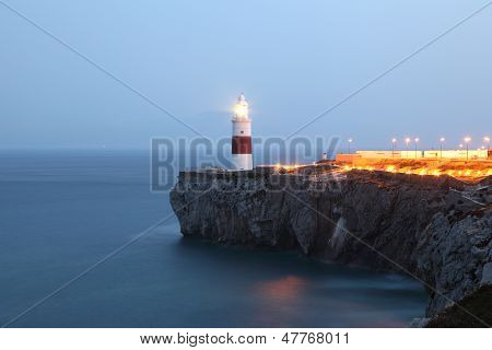 Lighthouse In Gibraltar