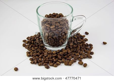Coffee Beans With Glass