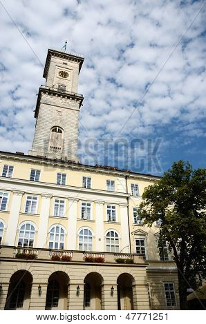 Lviv (lemberg) Town Hall On The Main Market Square,western Ukraine