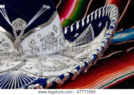 Mexican Hat On Colorful Blanket