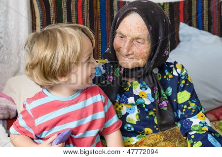 Great Grandmother And Her Great Grandson