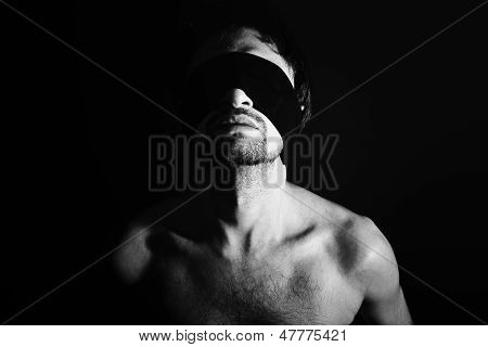 Portrait Of Nude Young Men Blindfolded