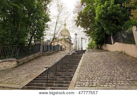 Staircase for the Sacred Heart, Montmartre (Paris France)