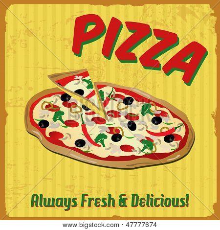 Pizza Vintage Poster