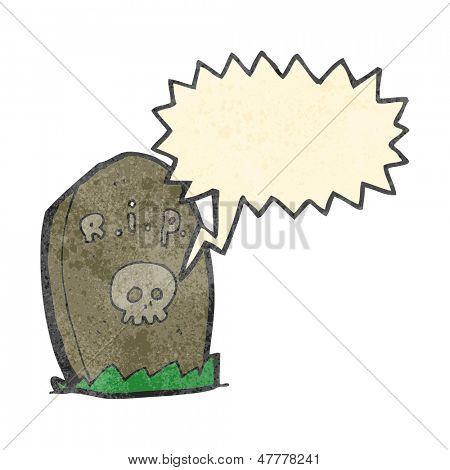 retro cartoon shrieking grave