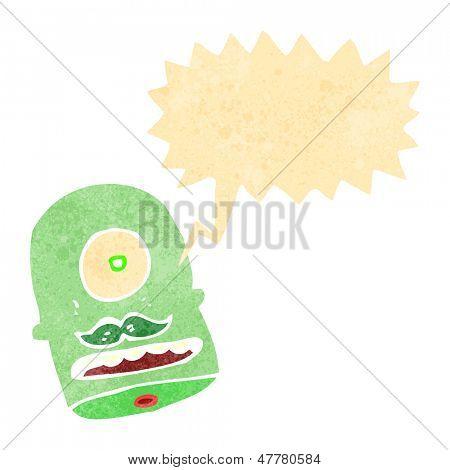 cabeça de Ciclope engraçado dos desenhos animados retrô