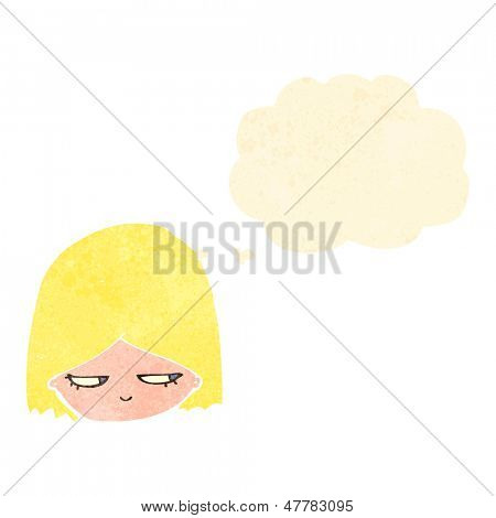 retro cartoon annoyed blond girl