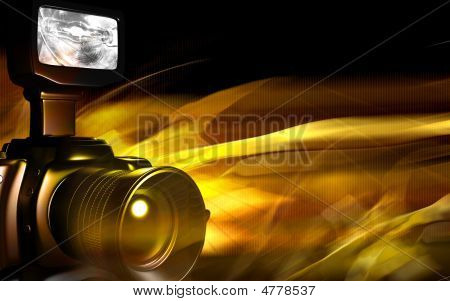 Camera With Yellow Light